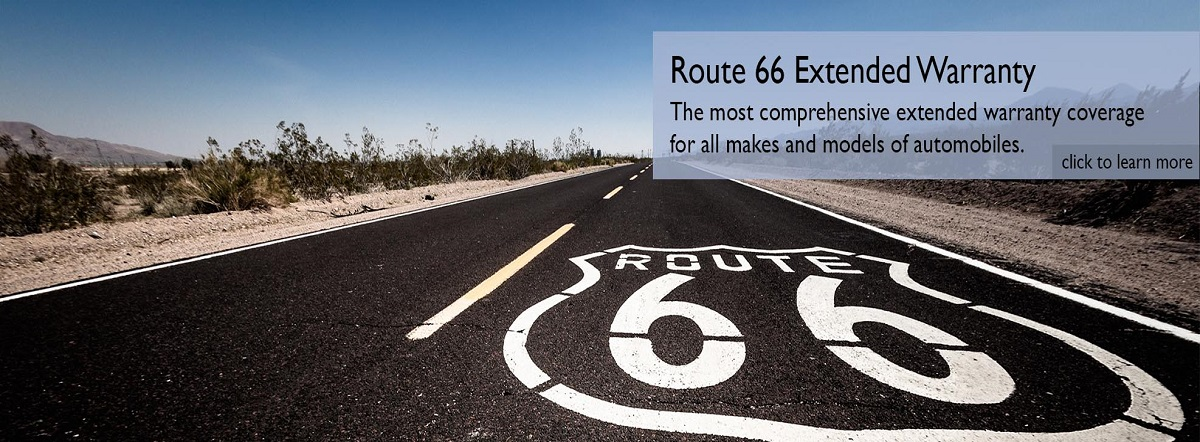 route 66 extended warranty for all makes and models of automobiles. learn more