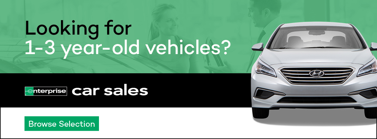 looking for a 1-3 year old car? enterprise car sales. browse selections.