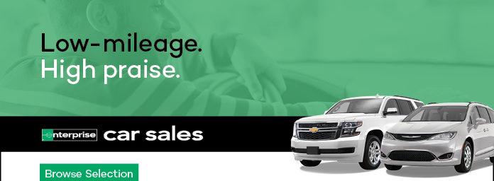 low mileage. high praise. enterprise car sales. browse selection.